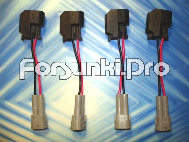 Разъемы и электрические переходники для форсунок разных типов Denso_to_EV6
